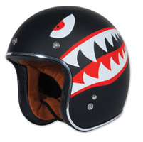 Torc T50 Flying Tiger Black Open Face Helmet