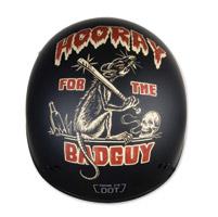 Torc T55 Lucky 13 Dirty Rat Flat Black Half Helmet