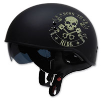 Torc T55 Born To Ride Flat Black Half Helmet