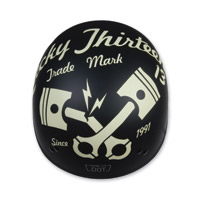 Torc T55 Cracked Piston Flat Black Half Helmet