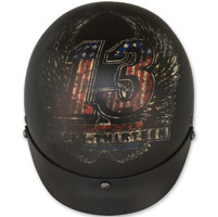 Torc T55.2 Lucky 13 Wings Flat Black Half Helmet