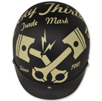 Torc T55.2 Cracked Piston Flat Black Half Helmet