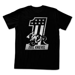 Evil Knievel Black One Men's Black Short Sleeve T-Shirt