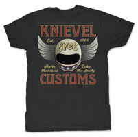 Evel Knievel Customs Men's Charcoal Short Sleeve T-Shirt