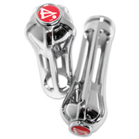 Battistinis Chrome Wireframe Grips