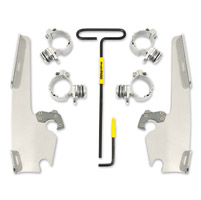 Memphis Shades Batwing Fairing, Fats/Slims Polished Trigger-Lock Mount Kit