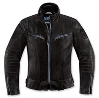 ICON One Thousand Fairlady Women's Black Leather Jacket