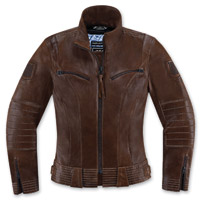 ICON One Thousand Fairlady Women's Brown Leather Jacket