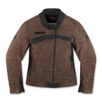 ICON One Thousand Hella 1000 Women's Brown Textile Jacket