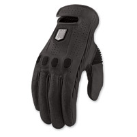 ICON One Thousand Prep Men's Black Leather Gloves