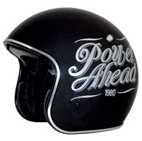 Zox Route 80 DDV Slogan Gloss Black Open Face Helmet