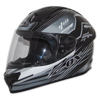 Zox Primo Junior Black/Silver Full Face Helmet