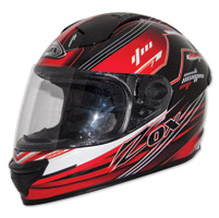 Zox Primo Junior Black/Red Full Face Helmet