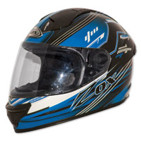 Zox Primo Junior Black/Blue Full Face Helmet
