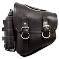 LaRosa Design Black Solo Side Zipper Bag with Fuel Bottle