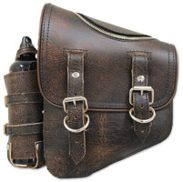 LaRosa Design Brown Solo Side Zipper Bag with Fuel Bottle