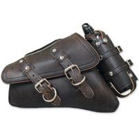 LaRosa Design Brown Solo Side Bag with Fuel Bottle