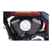 S&S Cycle Chrome Nostalgic Script Air Cleaner Cover
