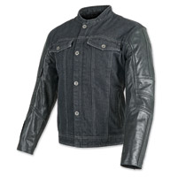 Speed and Strength Band of Brothers Blue/Black Denim/Leather Jacket