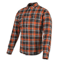 Speed and Strength Black Nine Orange/White Flannel Moto Jacket