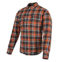 Speed and Strength Black Nine Orange/White Flannel Moto Jacket