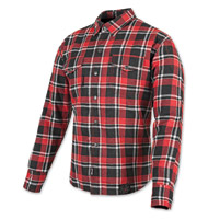 Speed and Strength Black Nine Red/White Flannel Moto Jacket