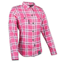Speed and Strength Smokin' Aces Ladies Pink/White Moto Jacket