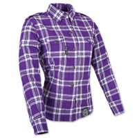 Speed and Strength Smokin' Aces Ladies Purple/White Moto Jacket