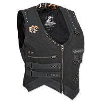 Speed and Strength Iron Mistress Ladies Textile Black Vest