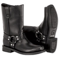 River Road Men's Traditional Harness Black Boots