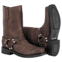 River Road Men's Traditional Harness Brown Boots
