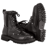 River Road Men's Double Zipper Black Field Boots