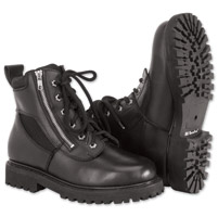 River Road Men's Side-Zip Highway Black Boots