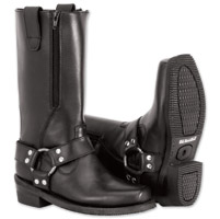River Road Women's Zipper Harness Black Boots