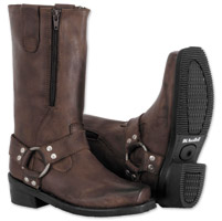River Road Women's Zipper Harness Brown Boots