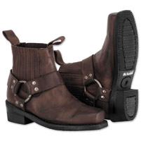 River Road Women's Lo Cut Ranger Harness Brown Boots