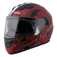 LS2 Stream Snake Bite Cocktail Red/White Full Face Helmet