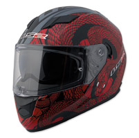 LS2 Stream Snake Bite Cocktail Red/Black Full Face Helmet