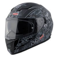 LS2 Stream Anti-Hero Black Full Face Helmet