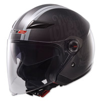LS2 OF569 Party Titanium/Black Open Face Helmet