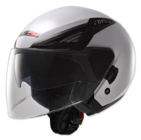 LS2 Bishop Solid White Open Face Helmet
