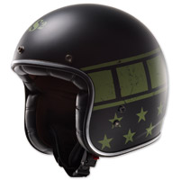 LS2 Kurt Military Matte Black Open Face Helmet