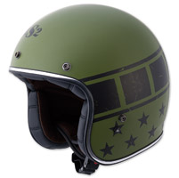 LS2 Kurt Military Matte Green Open Face Helmet