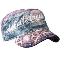 Hot Leathers Angel Wings Pink/Purple Cadet Cap