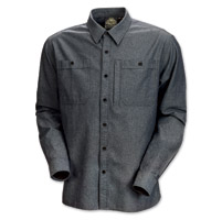 Roland Sands Design Wyatt Men's Charcoal Chambray Shirt