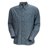 Roland Sands Design Wyatt Men's Blue Chambray Shirt
