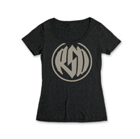 Roland Sands Design Logo Women's Scoop Neck Black T-Shirt