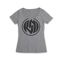 Roland Sands Design Logo Women's Scoop Neck Platinum T-Shirt