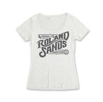 Roland Sands Design Original Design Women's Vintage White Scoop Neck T-Shirt