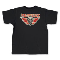 Old Guys Rule Proud Motorycles Men's Black Pocket T-Shirt